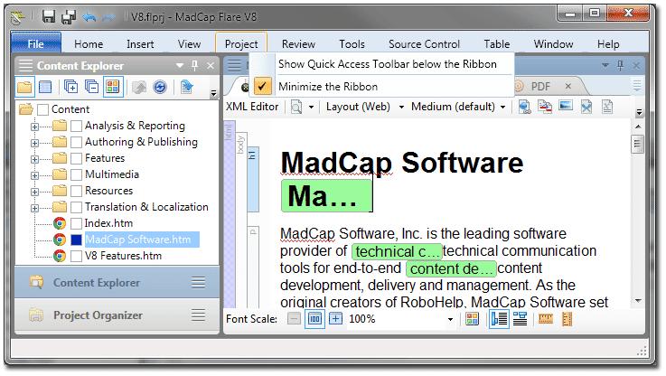 Minimized Toolbar