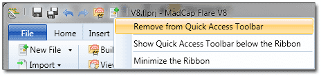 Remove from toolbar