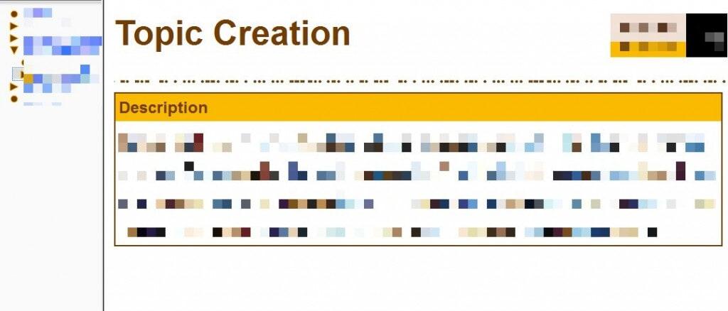 Topic Creation
