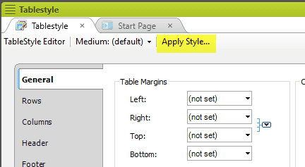 table styles 01
