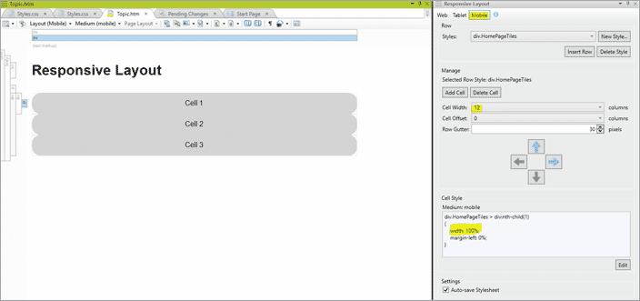 responsive layout window 14
