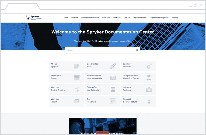 spryker documentation site