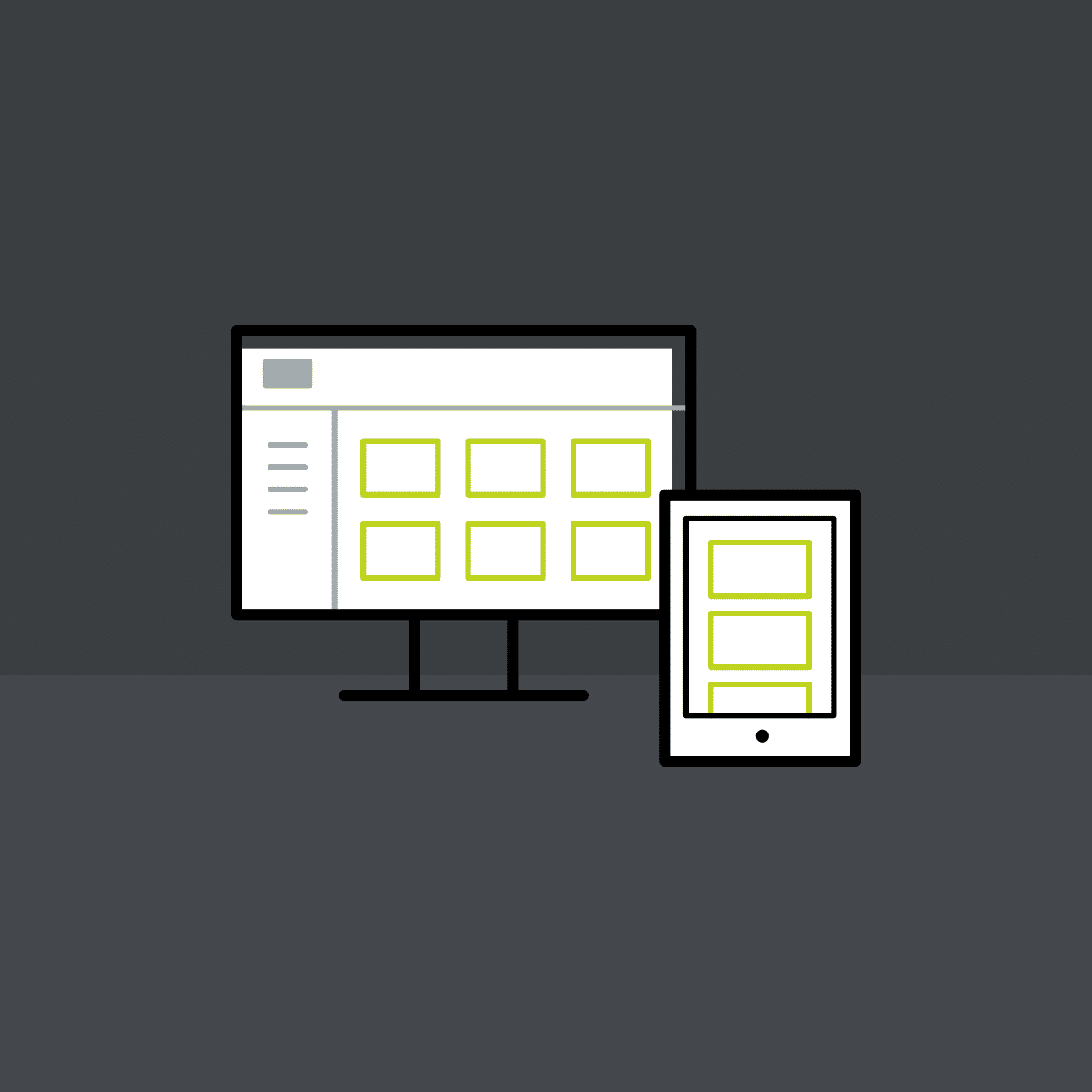 responsive layouts for desktop and mobile