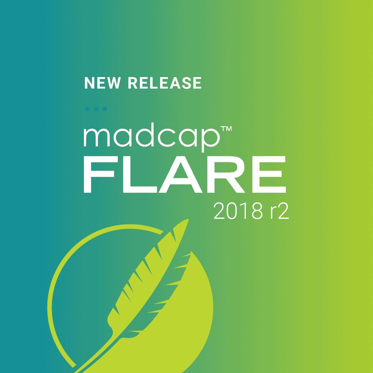 New Release - MadCap Flare 2018 r2
