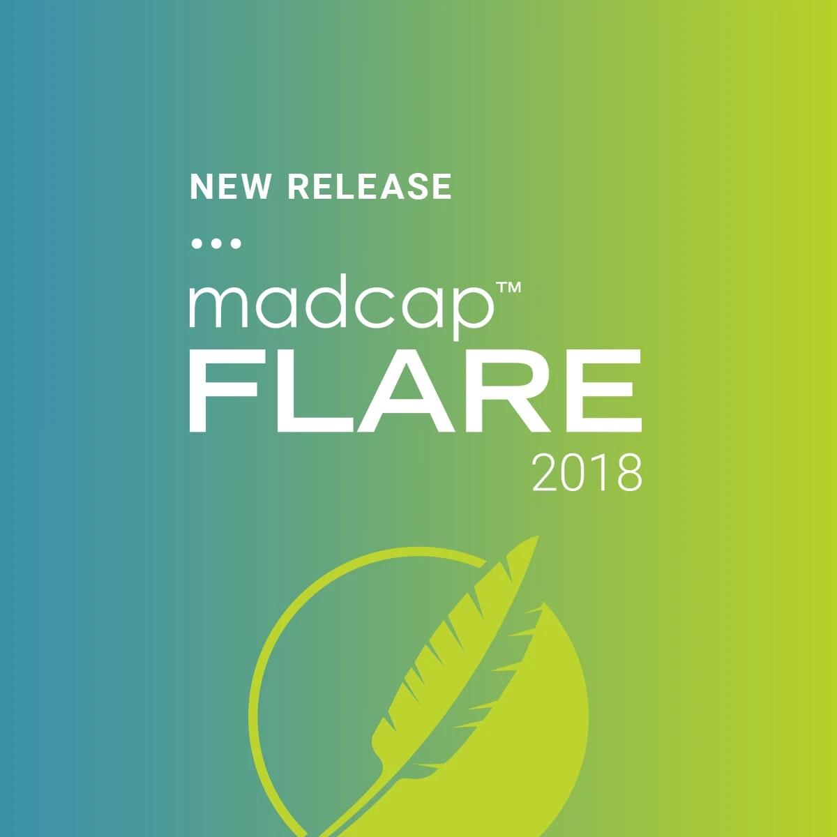 New Release MadCap Flare 2018