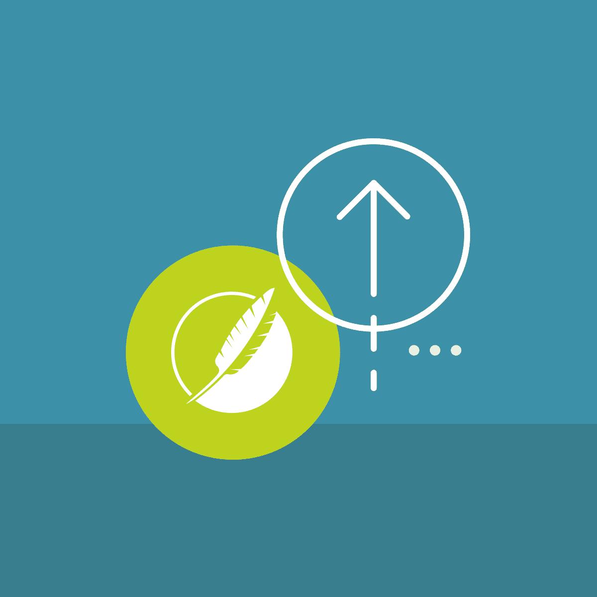 madcap flare with arrow symbol