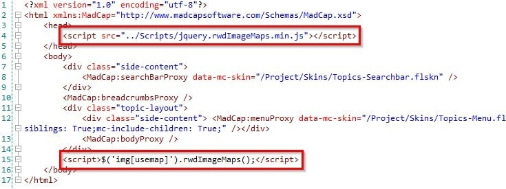 where to add the script tag in the body of the HTML