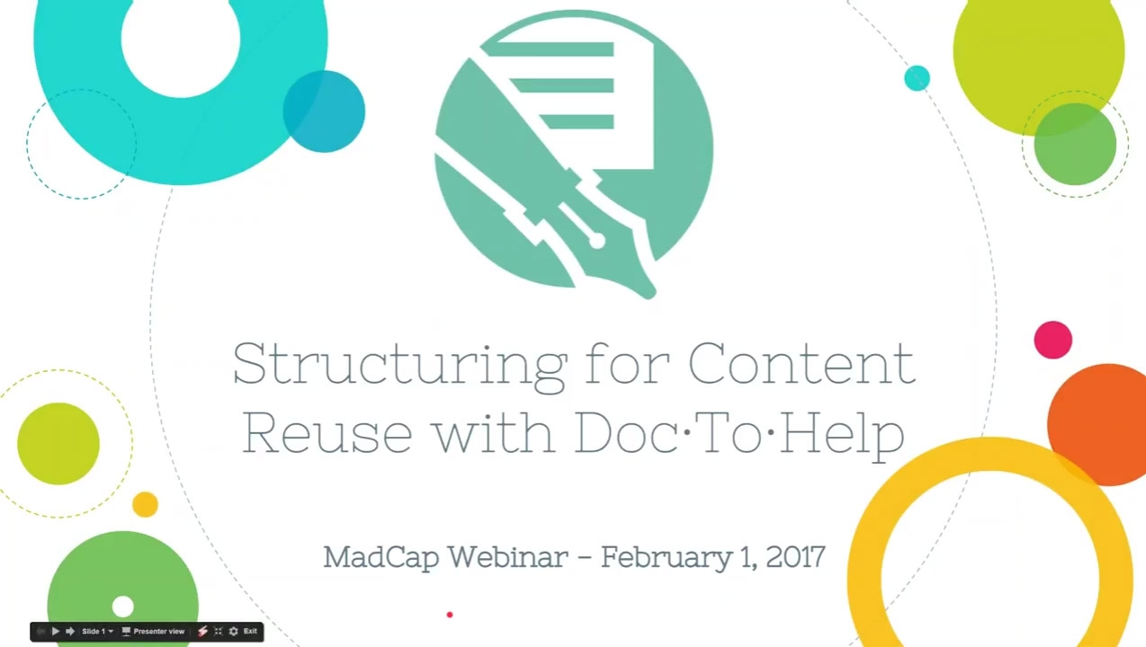 Structuring Your Way to Content Reuse with MadCap Doc-To-Help