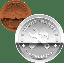 Platinum and Bronze Maintenance icons
