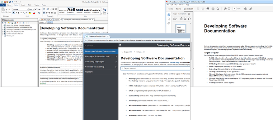 Software for Writing Online Help, Documentation and User