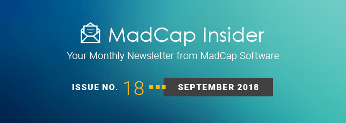 MadCap Insider, Issue No. 18, September 2018