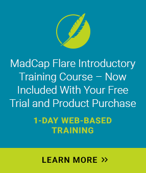 MadCap Flare Introductory Training Banner