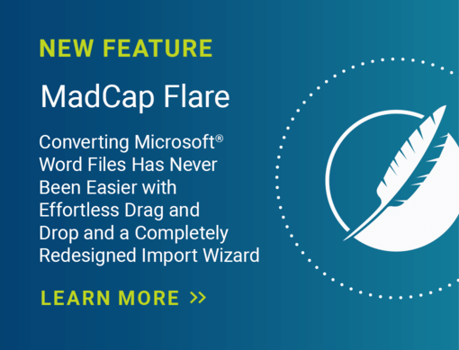 MadCap Flare New Feature Banner
