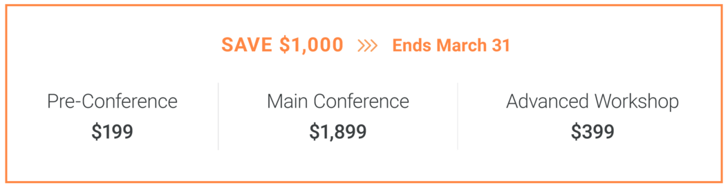 MadWorld 2020 Conference Pricing