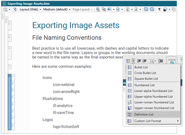 List Creation and Management Image
