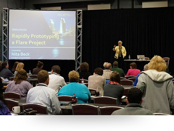 Nita Beck leading one of her sessions