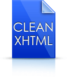 Clean XHTML Icon