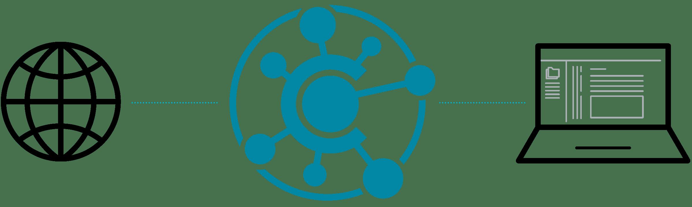 Flare Central Web Desktop Illustration