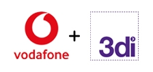 Vodafone and 3di logos