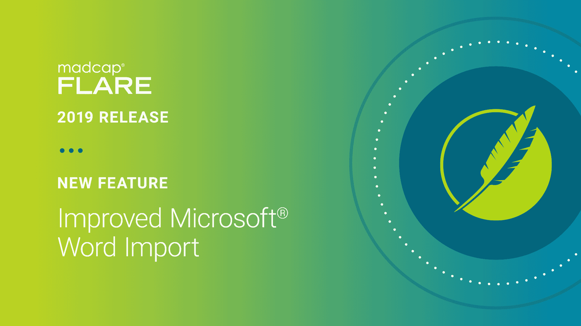 MadCap Flare 2019 r2 - New Feature: Improved Microsoft  Word Import