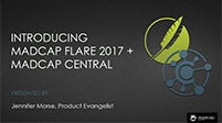 Introducing MadCap Flare 2017 + MadCap Central