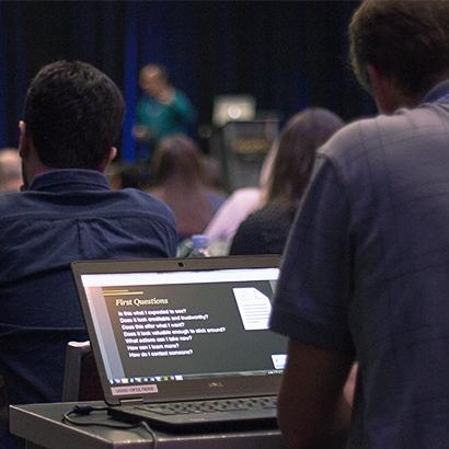 Viewing presentation slides