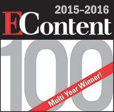 EContent 2015-2016 100 Award, Multi-Year Winner