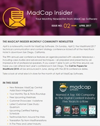 April 2017 MadCap Insider