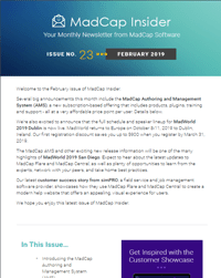 February 2019 MadCap Insider