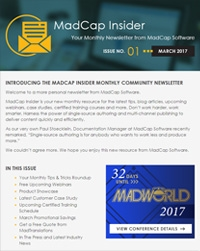 March 2017 MadCap Insider