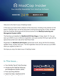 March 2019 MadCap Insider